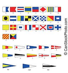 Nautische Flaggen