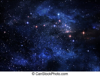 nebulae, tief, raum