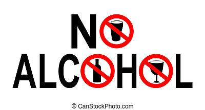 nein, alkohol, zeichen