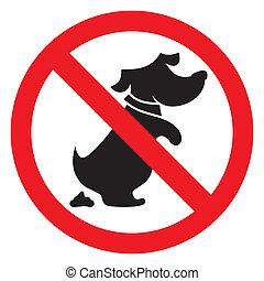 nein, hund, zeichen