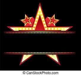 Neon am Stern