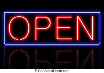 Neon-Open-Schild.