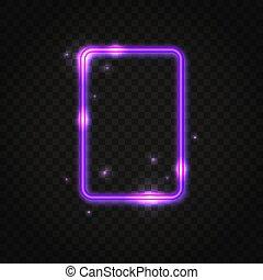 Neonfarbener Rechteckrahmen mit Platz für Text