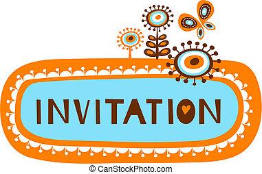 Nette Einladungspapiere