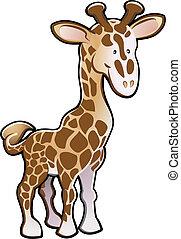Nette Giraffe-Illustration