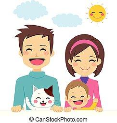 Nette, glückliche Familie.