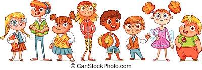 Nette Kindervielfalt