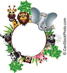 Nette Tier-Cartoon-Sammlung