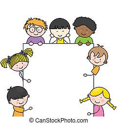 Netter Cartoon-Kinderrahmen
