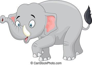 Netter Comic-Elefant.