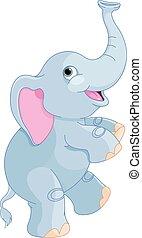 Netter Elefant.