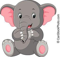 Netter Elefantentrickfilm.
