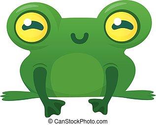 Netter Frosch-Cartoon-Typ. Vector Illustration