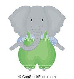 Netter, kindlicher Elefant.