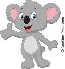 Netter Koala-Cartoon.
