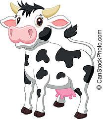 Netter Kuh-Cartoon.