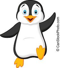Netter Pinguin-Cartoon.