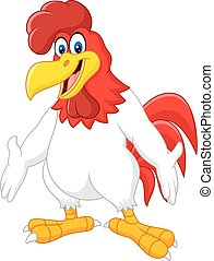 Netter Rooster-Cartoon.