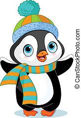 Netter Winter Pinguin.