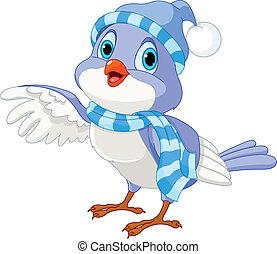 Netter Wintervogel.