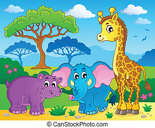 Nettes afrikanisches Tierbild 1