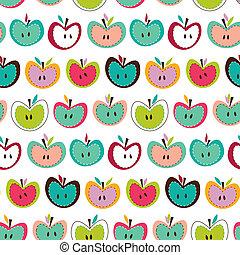 Nettes, nahrloses Apfelmuster