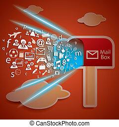Network Connectivity zu Mailbox Konzept Vektor.