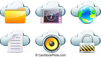 Netzwerk-Icon-Set.