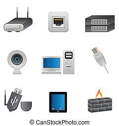 Netzwerk- und Computergeräte