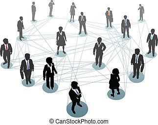 Netzwerkknoten für Geschäftsleute.