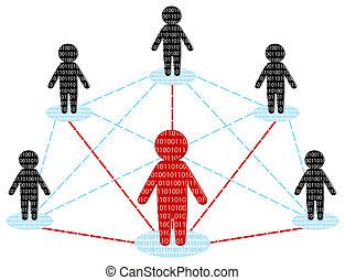 Netzwerkkommunikation. Business-Team-Konzept. Vektor Illustration
