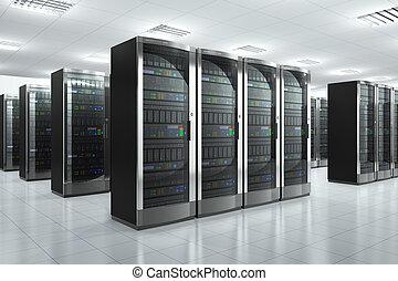 Netzwerkserver in Rechenzentrum.
