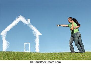 Neue Hauskäufer-Konzept für Hypotheken, Hauskredit