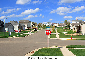 Neue Wohnheime in einem Vorort