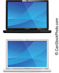 Neuer schwarz-weißer Laptop