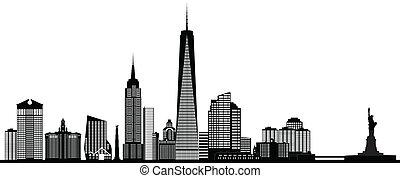 New York American skyline.