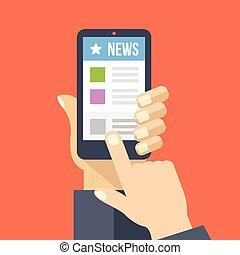 News App auf Smartphone