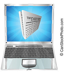 Newspaper Laptop-Konzept