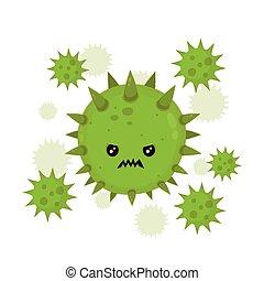 Niedlich böse böse Fliegen Keimvirus