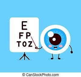 Niedlich gesundes, glückliches menschliches Auge