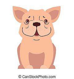 Niedlich kleine Hunde Cartoon Flat Vektor Icon