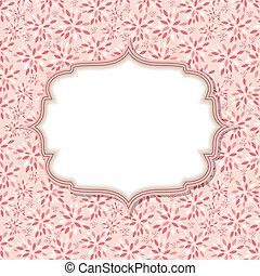 Niedlich rosa Rahmen Vektorgrafik.