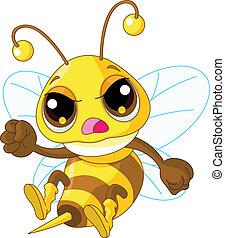 Niedlich wütende Biene.