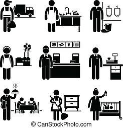 Niedrige Arbeitsplätze sind Berufe