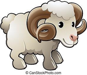Niedrige Schafzuchttiervektor Illustration