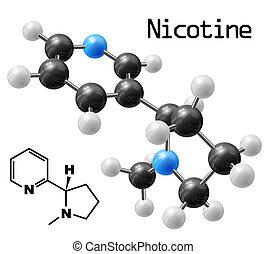 Nikotinmolekül