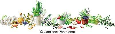 Noch leben mit Gartenkräutern und Gemüse