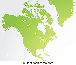 nord, landkarte, amerika