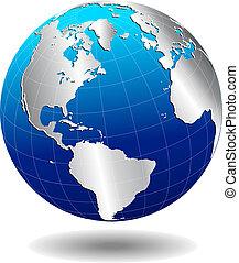 Nord-Süd-Amerika-Welt.