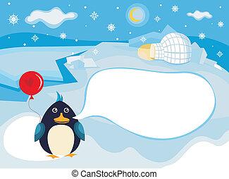 Nordpol-Hintergrund